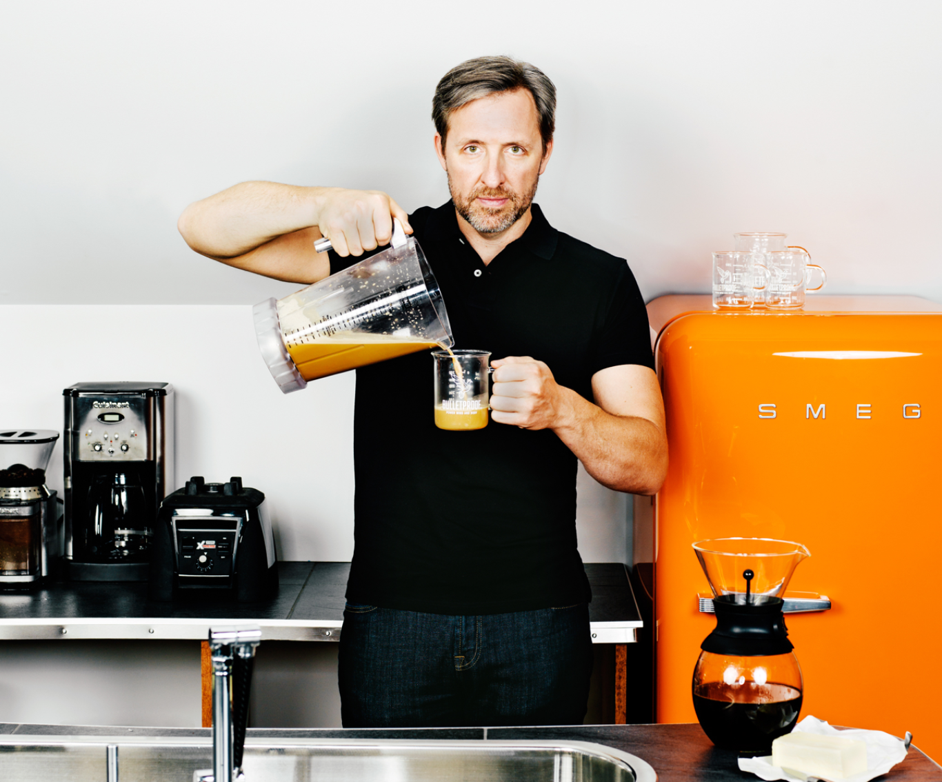 Dave Asprey Pouring Coffee